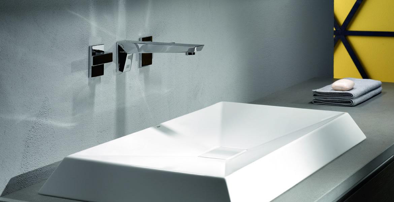 Robinetterie style avant garde pour salle de bain for Robinetterie salle de bain douche